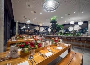 München: Firmen-Weihnachtsfeiern über den Wolken im The Brainlab Tower