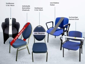 Stuhl- und Sperrbanner von hms design solutions