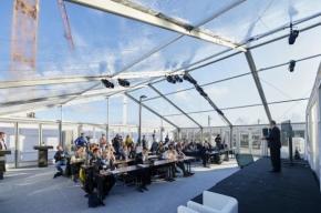 Losberger lieferte Zelte mit Durchblick zu Eröfnung des thyssenkrupp Testturms