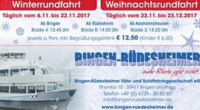 Festliche Winter- und Weihnachtsfahrten auf dem Rhein