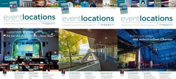 Die nächste Ausgabe Magazin EVENTLOCATIONS erscheint im November