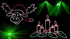 Weihnachtliche Lasershow