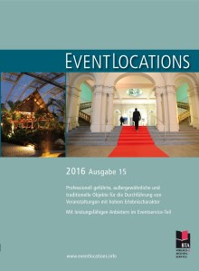 Handbuch EventLoctions 2016 – der Locationguide mit 1200 Locations und Sublocations