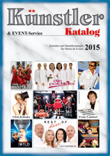 Out now: Künstler-& Event-Service-Katalog 2015!