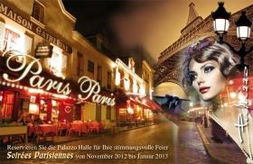 Karlsruhe: Soirées Parisiennes in der Eventlocation Palazzo Halle