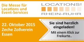 LOCATIONS Rhein-Ruhr - am 22.10.15 erstmalig auf dem UNESCO-Welterbe Zollverein in Essen