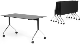 Der mobile Staffeltisch FX table – Design: Dimitri Riffel