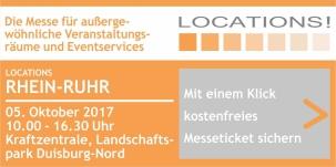 Freikarte Locations Messe Rhein Ruhr Duisburg 2017