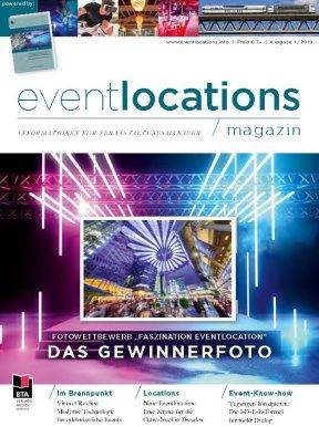 Eventlocations Magazin Ausgabe 1/19 - Beste Infos für Veranstaltungsprofis