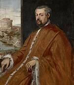 Portrait des Paolo Tiepolo von Jacobo Tintoretto