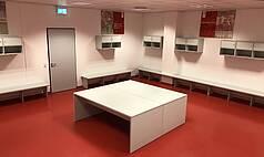 Regensburg: Jahnstadion Regensburg - Mannschaftskabine