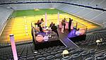 Bühne in Tribüne