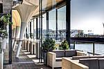 Terrasse mit Blick auf Cruise Therminal