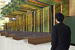 Architektur Zeichnung zum neuen Atrium - direkt anschließend an den Theatersaal