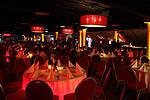 Ballsaal Haupttribüne - gesetztes Essen für ca. 550 Personen