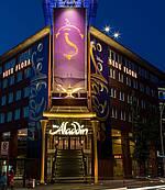 Stage Theater Neue Flora Haupteingang ALADDIN Banner