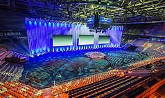 Mannheim SAP Arena Haupthalle - Querbespielung