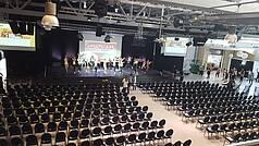 Crailsheim Hangar, Die Eventlocation Halle bestuhlt Kultur