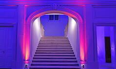 Dresden: Kurländer Palais - Historischer Treppenaufgang zum Festsaal
