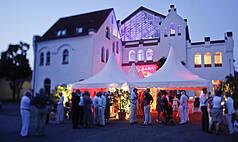 Karlsruhe Palazzo Halle Die Palazzo Halle bei Sonnenuntergang