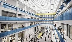 München Gasteig HP8 Die denkmalgeschützte Halle E im Gasteig HP8 - © gmp Architekten