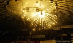 Sindelfingen Glaspalast Indoor-Feuerwerk