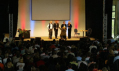 Bispingen Center Parcs Bispinger Heide Multifunktionshalle mit Showbühne