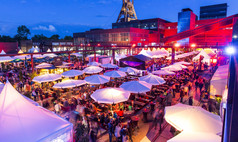 Essen UNESCO-Welterbe Zollverein Gourmet-Meile auf dem Gleisboulevard