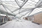 Hauptgebäude futuristische Architektur im WorldCC Bonn