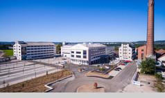 Schwäbisch Hall Fassfabrik Luftaufnahme mit Blick auf das Karl-Kurz-Areal / Bild: Stephan Baraniecki