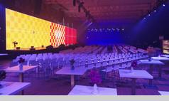 Essen Grand Hall UNESCO Welterbe Zollverein Tagung mit großer LED Leinwand