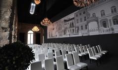 Dresden Kurländer Palais Reihenbestuhlung im Festsaal