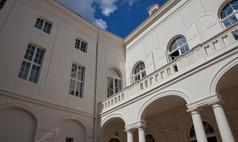 Dresden Kurländer Palais Blick vom Innenhof auf den Altan