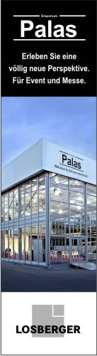 Erfahren Sie alle Produktdetails über die  neue Event- und Messehalle  Palas/Palas Emporium